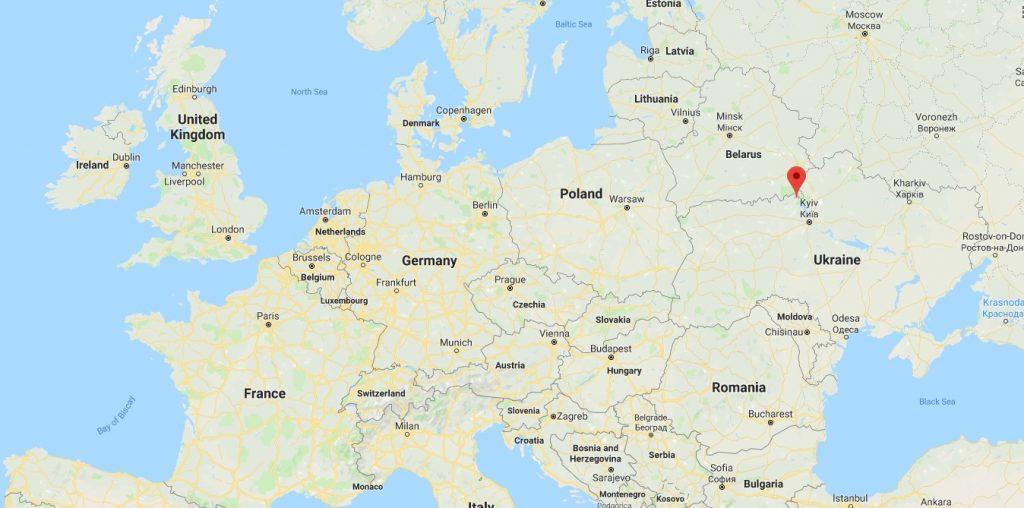 chernobyl on map